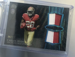Carlos Hyde (49ers) 2014 Bowman Sterling Rookie Double Jersey Blue #BSRDR-CH