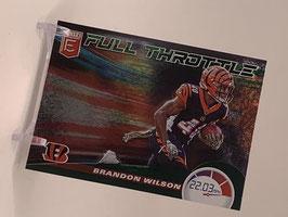 Brandon Wilson (Bengals) 2020 Elite Full Throttle Green #21