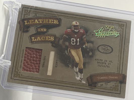 Terrell Owens (49ers) 2003 Absolute Leather and Laces Prime #LL37