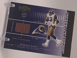 Damione Lewis (Rams) 2002 Preferred Rookie Materials Ball #210