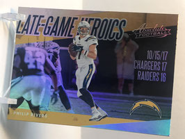 Philip Rivers (Chargers) 2018 Panini Absolute Late Game Heroics #LGH-PR