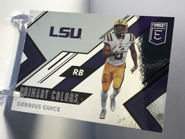 Derrius Guice (LSU/ Redskins) 2018 Panini Elite Draft Picks Primary Colors #5