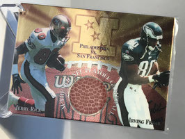Jerry Rice/ Irving Fryar (49ers/ Eagles) 1997 Collector's Edge Masters Playoff Gameball #132
