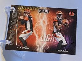 Andy Dalton/ AJ Green (Bengals) 2017 Playoff Thunder & Lightning #9