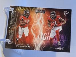 Julio Jones/ Devonta Freeman (Falcons) 2017 Playoff Thunder & Lightning #2