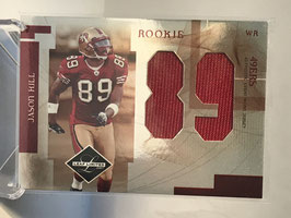 Jason Hill (49ers) 2007 Leaf Limited Rookie Jumbo Jerseys Jersey Number Die-Cut #RJ-32