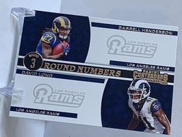 Darrell Henderson/ David Long (Rams) 2019 Contenders Round Numbers #RN-HL