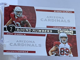 Byron Murphy/ Andy Isabella (Cardinals) 2019 Contenders Round Numbers #RN-MI