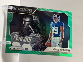Paul Perkins (Giants) 2016 Prizm Rookie Introductions Green Prizm #17