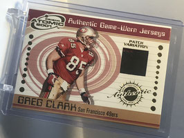 Greg Clark (49ers) 2001 Atomic Jersey Patch Variation #145