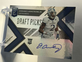 Dorance Armstrong (Kansas/ Cowboys) 2018 Panini Elite Draft Picks Autograph #219