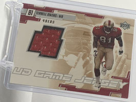 Terrell Owens (49ers) 2000 Upper Deck UD Game Jerseys #TO