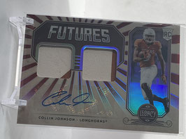 Collin Johnson (Texas/ Jaguars) 2020 Legacy Futures Double Rookie Patch Red #FD-CJ