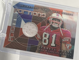 Terrell Owens (49ers) 2002 Topps Pristine Pristine Portions #PPR-TO