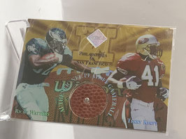 Ricky Watters/ Terry Kirby (Eagles/ 49ers) 1997 Collector's Edge Masters Gameball Holofoil Diamond #10