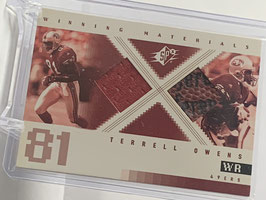 Terrell Owens (49ers) 2001 SPx Winning Materials #WM-TO
