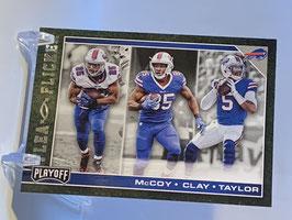 LeSean McCoy/ Charles Clay/ Tyrod Taylor (Bills) 2017 Playoff Flea Flicker #12