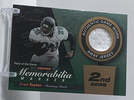 Fred Taylor (Jaguars) 2000 Playoff Piece of the Game Preview #FT28-W