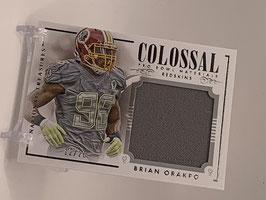 Brian Orakpo (Redskins) National Treasures Colossal Pro Bowl Materials #CPB-BO