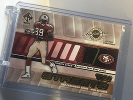 Tai Streets (49ers) 2001 Private Stock Jersey Patch Variation #128