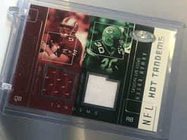 Jeff Garcia/ Ahman Green (49ers/ Packers) 2002 Hot Prospects Hot Tandems Double Jersey #JG-AG