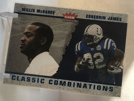 Edgerrin James/ Willis McGahee (Colts/ Bills) 2003 Fleer Tradition Classic Combinations Blue #4 CC