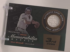Mark Brunell (Jaguars) 2000 Playoff Piece of the Game Preview 3rd. Down #MB8-W