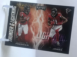 Devonta Freeman/ Julio Jones (Falcons) 2017 Playoff Thunder & Lightning #2