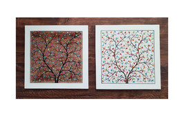 "Paper Machee wall frame""Tree of Life"". 28x28cm PMFM-006"