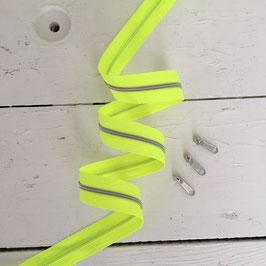 Reißverschluss 3mm / neongelb