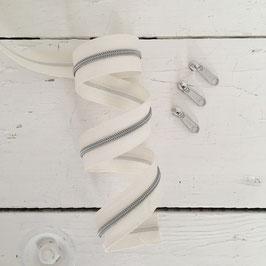 Reißverschluss 3mm /weiß