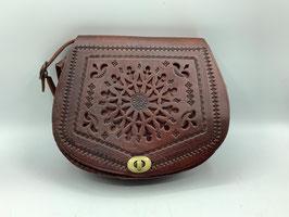 Gestanzte Lederhandtasche M (Bestell-ID 40009b)