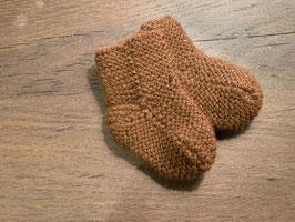 SALE: Super warme handgestrickt Baby Söckchen aus Baby Alpaka