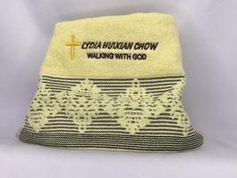 European Flower Fashion Soft  Cotton Embroidery  Bath Towel 27.5*12.75 inches(Yellow) 欧洲花时尚柔软纯棉刺绣浴巾 27.5* 12.75英寸(黄色)