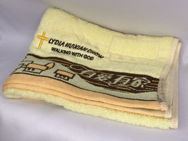 Have Love Have Home Fashion Soft  Cotton Embroidery  Bath Towel 28 * 13 inches( Yellow ) 有爱有家时尚柔软纯棉刺绣浴巾 28* 13英寸(黄色)
