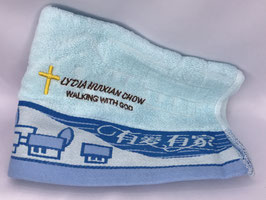 Have Love Have Home Fashion Soft  Cotton Embroidery  Bath Towel 28 * 13 inches( Blue ) 有爱有家时尚柔软纯棉刺绣浴巾 28* 13英寸(蓝色)