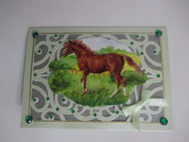 Grußkarte Pferd, neutral