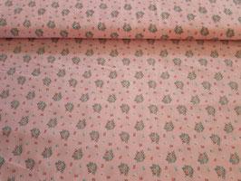 Baumwolle Popeline Blumen rosa