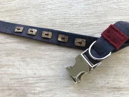 Halsband INDIGO, schmal mit Schließe