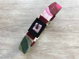 Halsband RAINBOW, mit Steckschließe und Applikationen