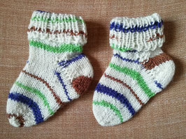 Baby-Socken * beige mit Streifen