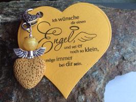 Schutzengel Anhänger mit Lava Perle saffran (16)