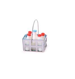Milchflaschen in Transportbox