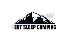 Aufkleber Eat Sleep Camping