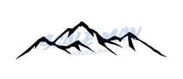 Aufkleber Berg Motiv 1 (2 Stück)