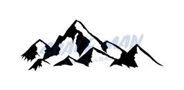 Aufkleber Berg Motiv 5 (2 Stück)