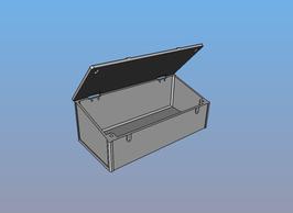 Kiste Ladefläche 190x92x72mm STL Datei