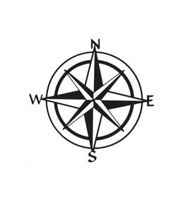 Aufkleber Kompass