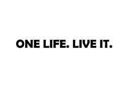 "Aufkleber ""ONE LIFE. LIVE IT."""