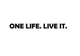 "Aufkleber ""ONE LIFE. LIVE IT."""